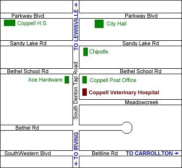 Coppell Veterinary Hospital - 504 S. Denton Tap Road Coppell, Texas 75019